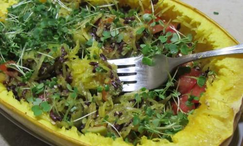 Spageti ķirbja salāti